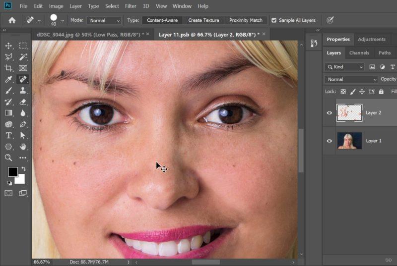 Smoothen Skin Using Photoshop