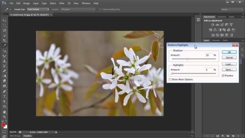Adjusting Shadows/Highlights Using Photoshop